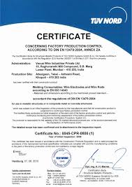 Certifications System Approvals Stainless Steel Manufacturers In
