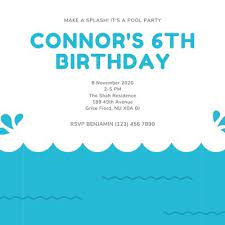 Pool party invitations can include reminders to pack suits, towels, floaties, goggles. Free Printable Customizable Pool Party Invitation Templates Canva