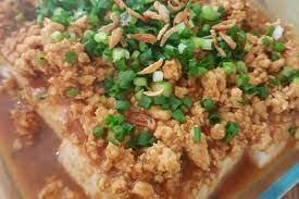 Ayam kukus ayam kukus hainan ayam kukus diet mayo ayam rebus diet ayam. Resep Tahu Kukus Ayam Cincang Yang Sederhana Tetapi Sedap Banget