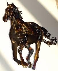 custom made running horse metal wall art sculpture on metal horses wall art with custom made running horse metal wall art sculpture by superior iron