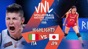 อิตาลี 2-3 ญี่ปุ่น 2021 FIVB Volleyball Women's Nations League 1/6/64 -  เก้าออก 9oog.com