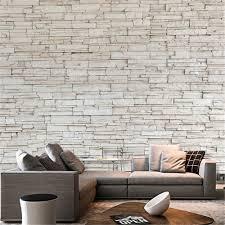 Witte Steen Tegel Textuur Baksteen Muur Steen Papier Behang