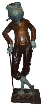 cigar plays golf bronze statue size