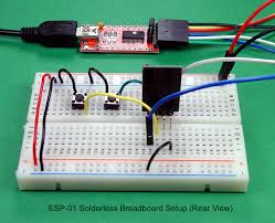 breadboard and program an esp 01 circuit the arduino ide between the schematic diagram and the photographs you should have most of the information needed to assemble the erless breadboard setup