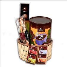 gourmet chocolate gift basket with organic fair trade chocolates