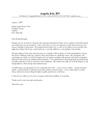Sample Cover Letter Rn Resume Cover Letter Sample Nursing