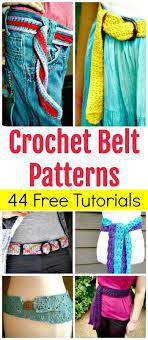 Crochet Belt Pattern Interesting Decorating Design
