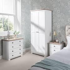 bedroom furniture bedside tables. Bedroom Furniture Set \u2013 Includes Wardrobe, 4 Drawer Chest, Bedside Table In White ( Tables