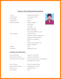 Resume For Job Format 60 job bio data images pandora squared 49