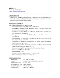 Sample Career Objective In Resume Best Of Mohan R Resume