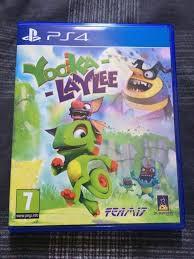 yooka laylee playstation 4 game fun ps4 cartoon platformer kids childrens banjo kazooie like