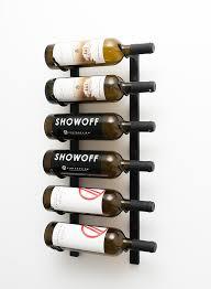 2 ft wall series metal wine rack single deep 6 bottle in satin