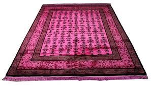 hot pink wool rug pale