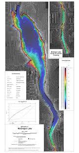 Mcgregor Lake Bathymetric Chart