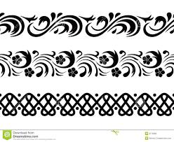 Corner Designs Vector Free Download Vector Seamless Border Stock Vector Illustration Of