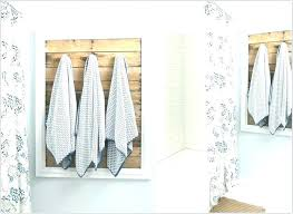Creative Towel Rack Ideas Bathroom Hanging Info Positive Throughout