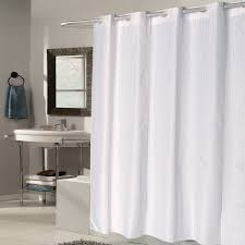 ez on white check fabric shower curtain liner with built in hooks 70 x 75 free on orders over 45 com 18563176