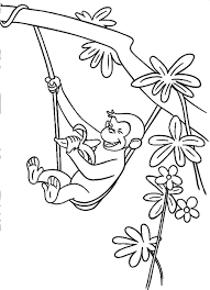 Curious George Coloring Pages Printable Curious George Coloring