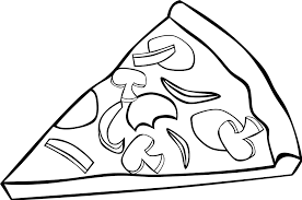 pizza clipart black and white. Free Stock Photos Illustration Of Slice Pizza With Toppings And Clipart Black White Library