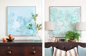diy abstract watercolor wall art