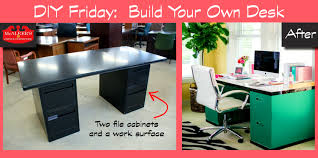 bathroommarvelous diy friday build your own file cabinet desk mcaleers office easy ideas diybuilddesk sweet diy build your own office