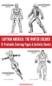 Captain America The Winter Soldier Coloring Pages Activity Sheets