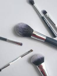 coc marine blue make up brush set 6p