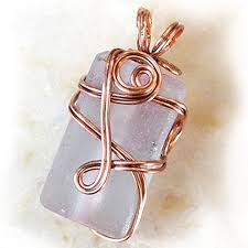 Wire wrapped recycled glass pendant Flynn Barely Pink Recycled Glass Copper Wire Wrapped Pendant Necklace One Of Kind Unique Art Jewelry Gypsy Rustic Boho Wire Wrap Gift For Mom Wife Earthartstudio Fine Craft Boutique Amazoncom Barely Pink Recycled Glass Copper Wire Wrapped Pendant