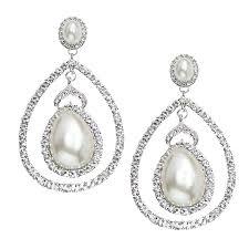 italian luxe collection luxury swarovski crystal wedding view larger pearl emerald diamond chandelier earrings