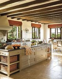 The mood board above includes pictures of French country kitchen designs  along with more modern French