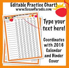 Piano Practice Chart Practice Chart 2016 Susan Paradis Piano Teaching Resources