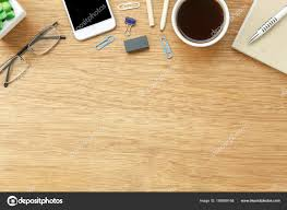 table top view. Plain Table Table Top View Aerial Image Stationary On Office Desk Background  ConceptFlat Lay Objects The Cup Of Coffee With Essential Accessory With Top View E