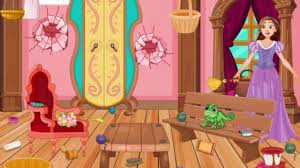 rapunzel house cleaning and makeover play the girl game online