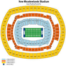 Metlife Stadium Football Seating Chart Metlife Stadium Seating Chart Views And Reviews New York