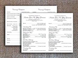 program template for wedding catholic wedding program template free cookout info