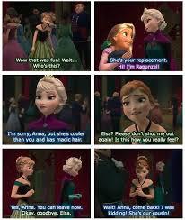 Frozen Tangled crossover - Anna Elsa Rapunzel interactions - poor ... via Relatably.com