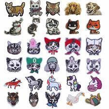 <b>Pulaqi Cute Unicorn</b> Animal Zoo Badge Iron On Embroidered Cat ...