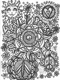 Yin And Yang Peace Love Music Coloring Pages Print Coloring
