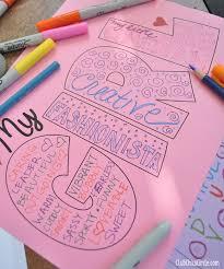 Mother/Daughter Self-esteem Craft Activity Idea