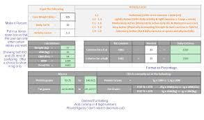 spreadsheet to calculate calorieacros calories protein fat macros bodybuilding forums