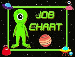 Alien Chart Space Alien Style Job Chart Cards Signs Great For Classroom Management