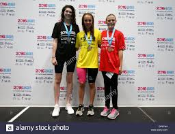 left-right) Abbie Hampshire, Megan Richter and Molly Hopkins take ...