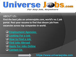 About Us Find The Best Jobs On Universejobs Com World S No 1 Job
