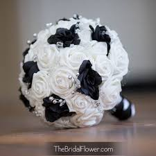 black and white wedding bouquet with crystals bridal bouquet great Wedding Bouquets Black And White black and white wedding bouquet with crystals bridal bouquet great for damask weddings ready to ship black and white silk wedding bouquets