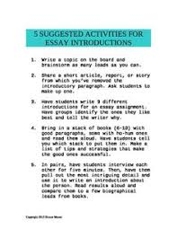 essay tips lynkmii lynkmii iphone  suggested activities for writing better essay introductions