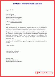 Transmittal Letter Example Levelings