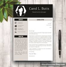 Resume Paper Clean Resume Template With Photo Cover Letter Carol L Butts 30