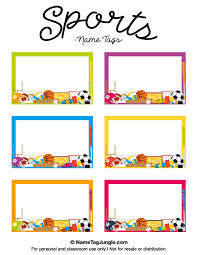 name tag template free printable free printable sports name tags the template can also be used for