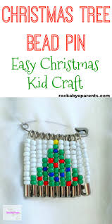 Beaded Safety Pin Designs Christmas Tree Bead Pin An Easy Christmas Kid Craft