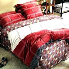 red flannel comforter bed sheets queen winter sets plaid set
